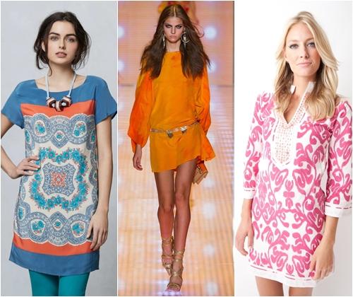 Модные туники весна-лето 2013