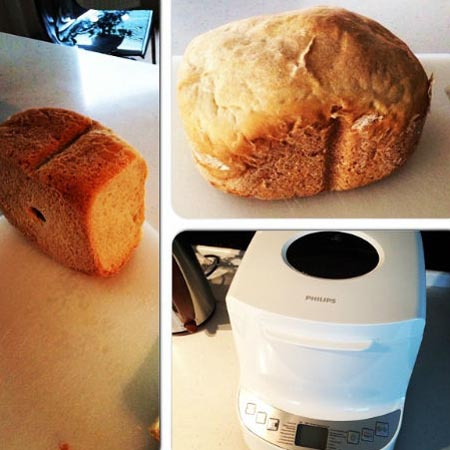 Лера Кудрявцева испекла супругу хлеб