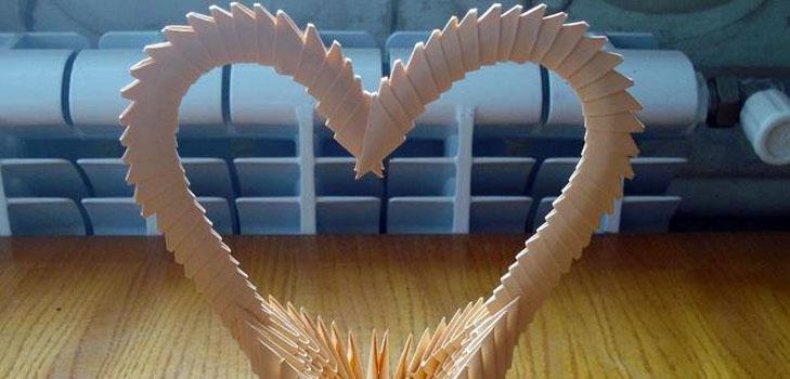 Как сделать оригами из бумаги сердечко, видео