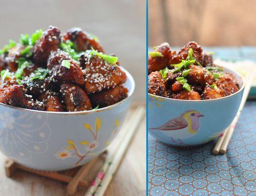 мясо под кисло-сладким соусом, простой и вкусный рецепт цыплёнка с кунжутом