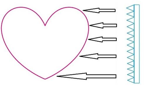 Как сделать коробку в форме сердца
