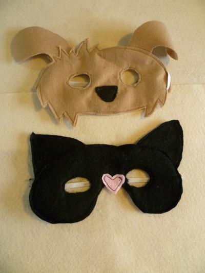 Новогодние костюм и маска собаки для детей своими руками