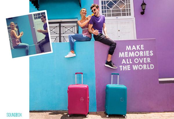 Лето в пути: яркие чемоданы American Tourister Soundbox