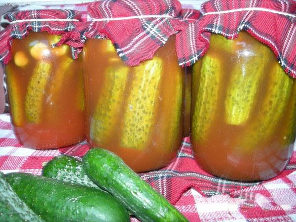 Огурцы с кетчупом на зиму – без стерилизации, в банках. Заготовка для зимы острых и хрустящих огурцов с кетчупом чили