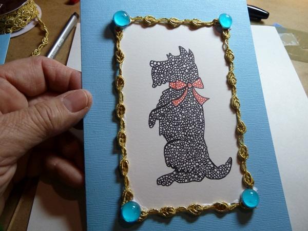 Красивая открытка на Новый 2018 год Собаки своими руками