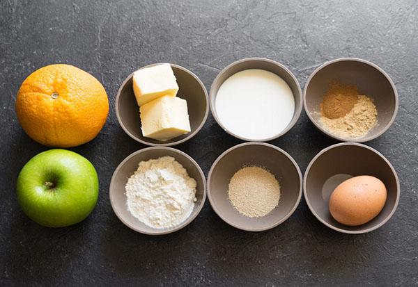 Рецепт ароматных яблочных булочек со специями