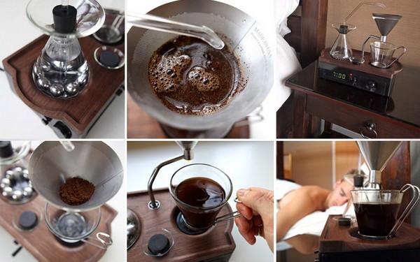 Подарок для кофеманов: будильник-кофеварка Barisieur