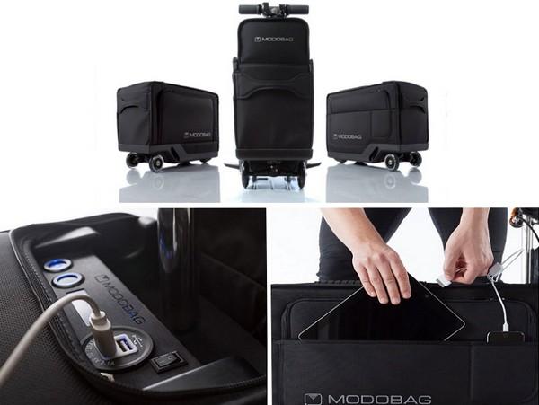 Modobag для ярких путешествий: первый моторизированный чемодан