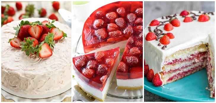 торт клубника сливки рецепты десертов
