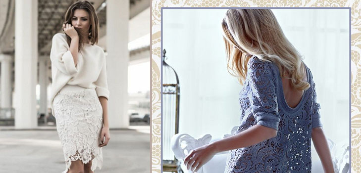 Модная фишка сезона — кружево: Как его носить