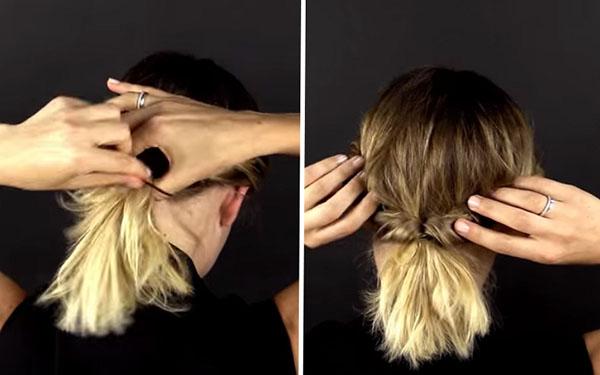 Три моментальных укладки со жгутами для коротких волос