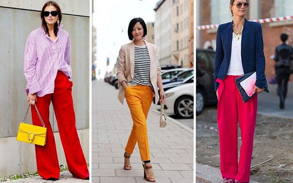 Модные брюки для лета 2018: лучшие образы