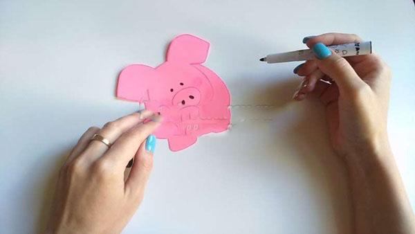 Открытки на Новый 2019 год Свиньи своими руками – мастер-классы для детей