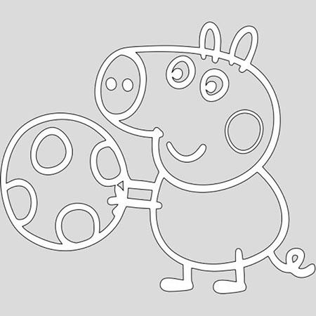 Трафареты на Новый 2019 год Свиньи для вырезания
