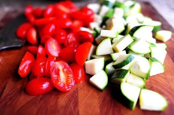 рецепт интересного салата с цуккини