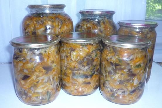 заготовки на зиму из капусты солянка
