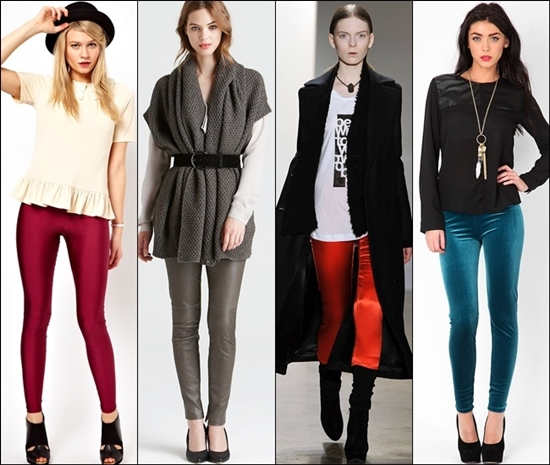 Уроки стиля: с чем носить леггинсы осенью