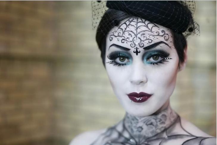 Как раскрасить лицо на Хэллоуин в домашних условиях, фото