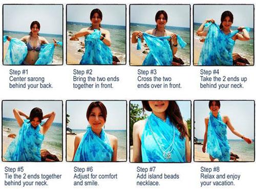 Как завязать парео на пляж