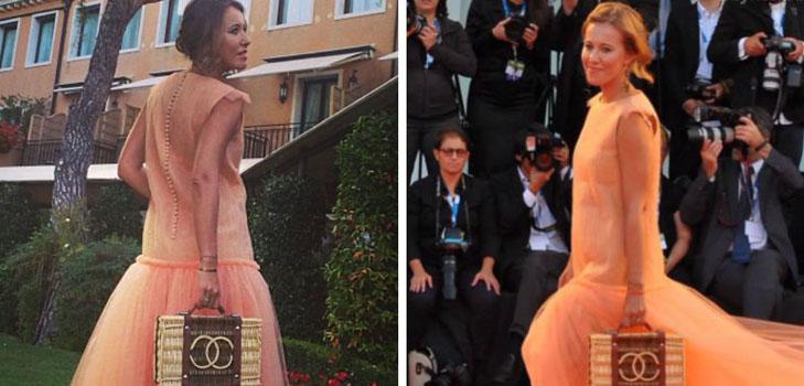 Ксения Собчак шокировала публику своим винтажным нарядом