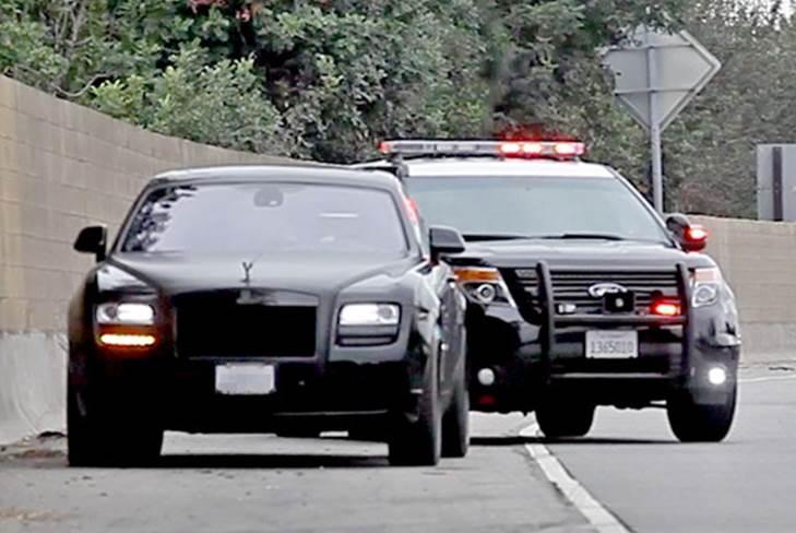 Ким Кардашьян была оштрафована за превышение скорости