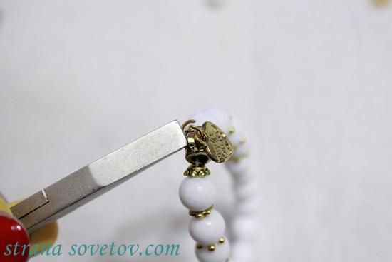 Набор браслетов из бусин на резинке: агат и лава