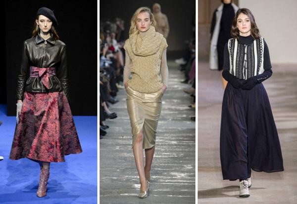 Стильные юбки осени-2017: лучшие примеры с улиц и подиумов, фото