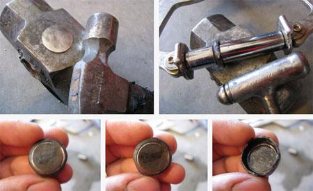 Обработайте молотком и горелкой монетку