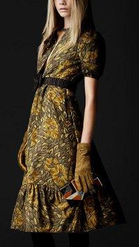 Модные платья осень 2012