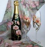 Декупаж бутылок шампанского
