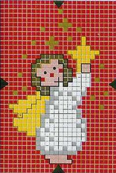 Схема новогодней вышивки: ангел