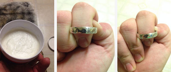 вычистите и вымойте кольцо