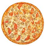 Пицца со свежими грибами под соусом