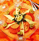салат с грейпфрутом и сыром