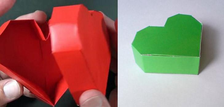 Видео как сделать коробочку сердечко из бумаги 893