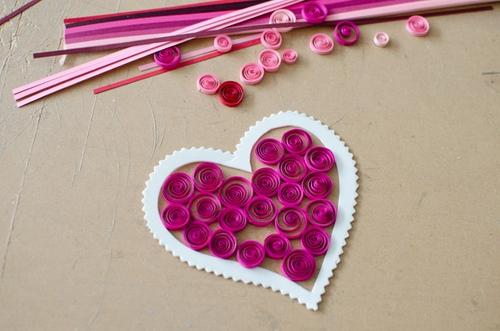 Как украсить валентинку