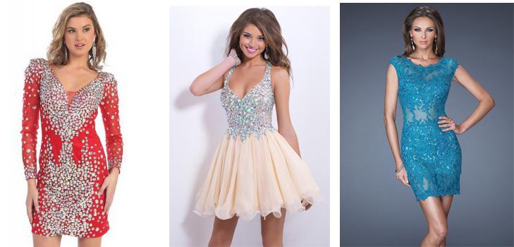 8241e844a8b Короткие платья на выпускной  обзор самых модных моделей 2015 года