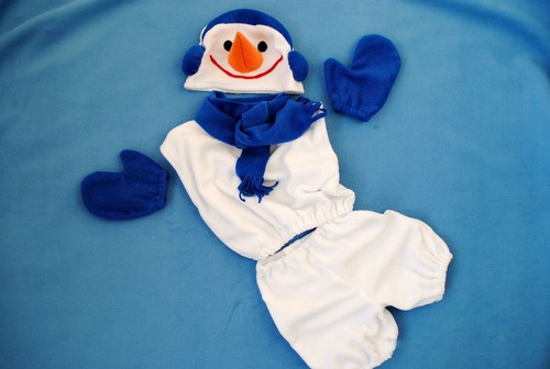 Выкройка снеговика маскарад костюмы. Маскарадный костюм снеговика своими руками