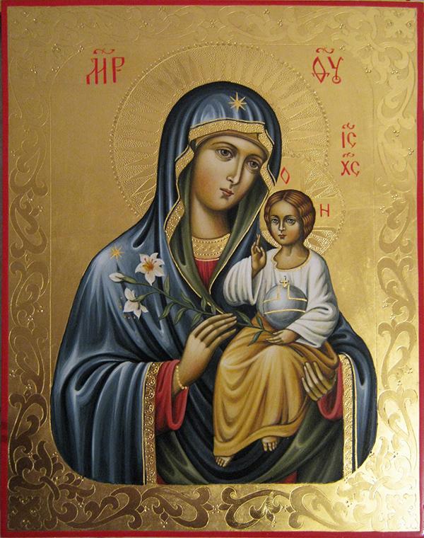 Молитва перед иконой молящейся марии