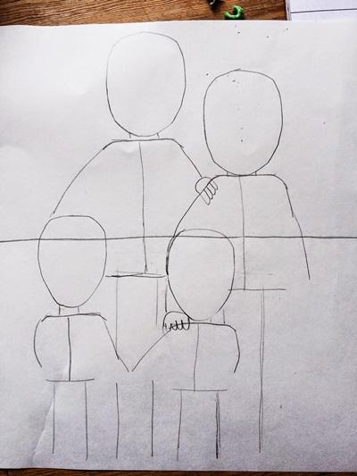 kak-narisovat-mamu-33 Стенгазета на День матери своими руками с картинками и фотографиями: Шаблоны для распечатки плаката ко Дню матери в школе и детском саду