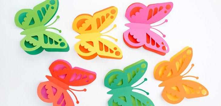 babochka-iz-bumagi Шаблоны цветов для вырезания из бумаги разных размеров. Бабочки из бумаги своими руками и трафареты для вырезания