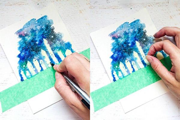 kak-narisovat-kosmos-45 Как нарисовать космос 🥝 акварелью своими руками поэтапно