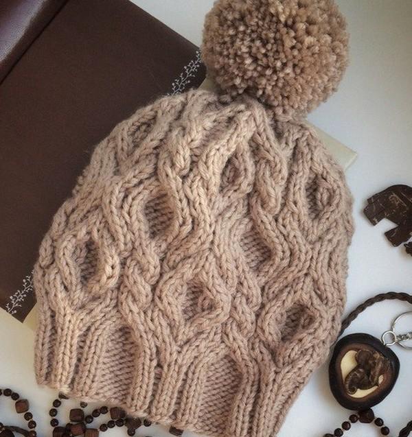 модные вязаные женские шапки осень зима 2016 2017 схемы и описания