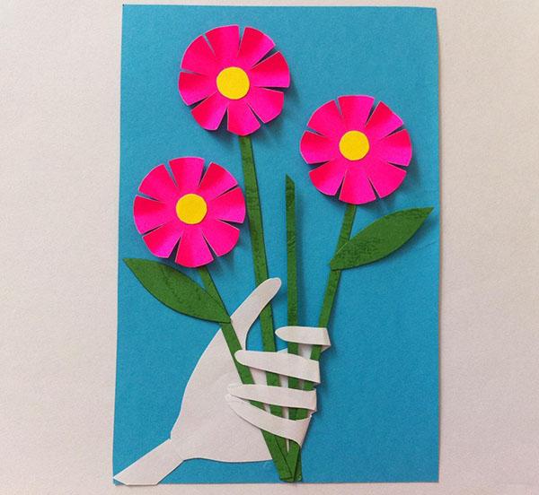Фото, открытки с 8 марта в детском саду своими руками