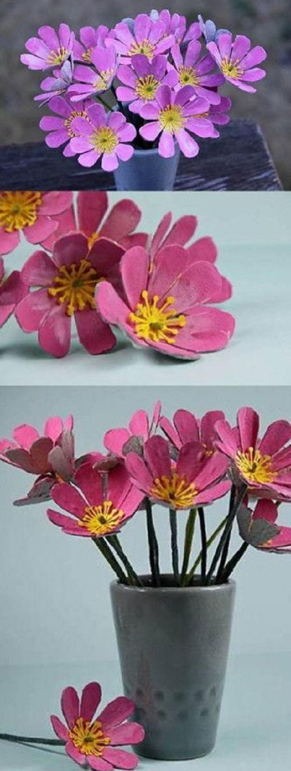 Поделки цветов своими руками для детей фото 599