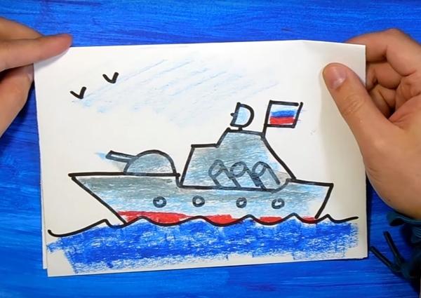Смайлики, военная открытка нарисуй сам