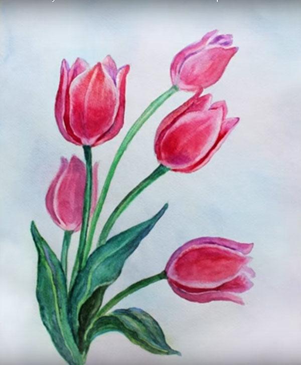 Открытка к 8 марта своими руками нарисованная, захарова платке