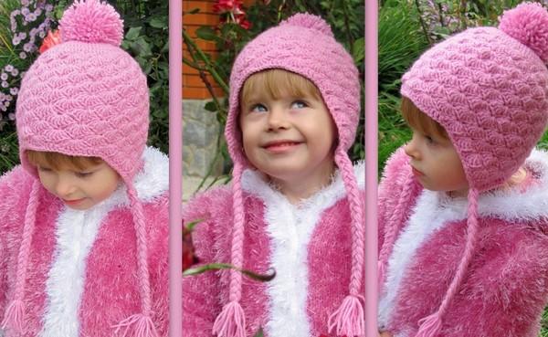 вязаные шапочки для девочки как связать шапку для девочки спицами