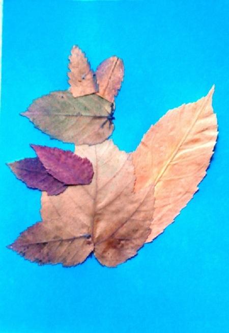 kartinki-iz-listev-belka-7 Картины из листьев и цветов своими руками для детского сада и школы