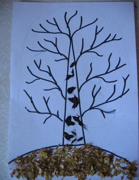 kartinki-iz-listev-osen-5 Картины из листьев и цветов своими руками для детского сада и школы